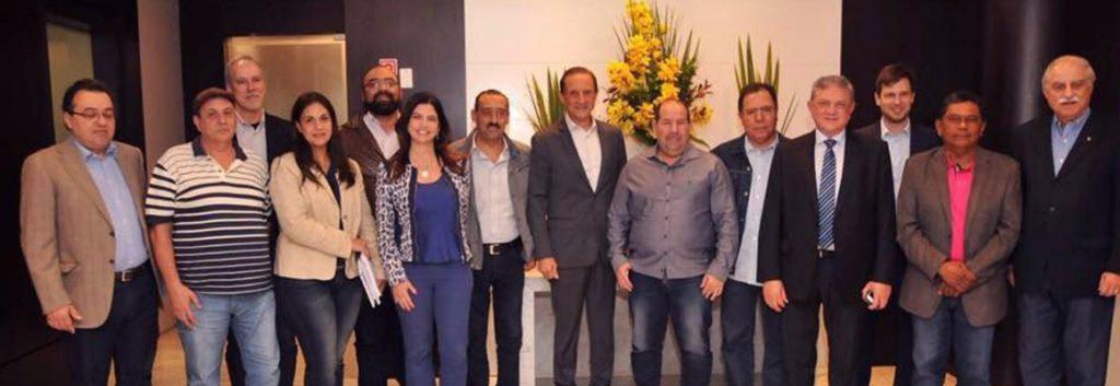 Paulo Ferrari em reunião com o presidente da Fiesp